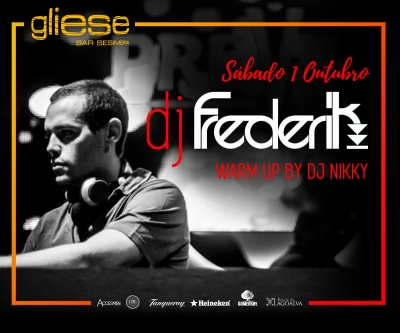 Dj Frederik no Gliese Bar com warm-up by Nikki no sábado